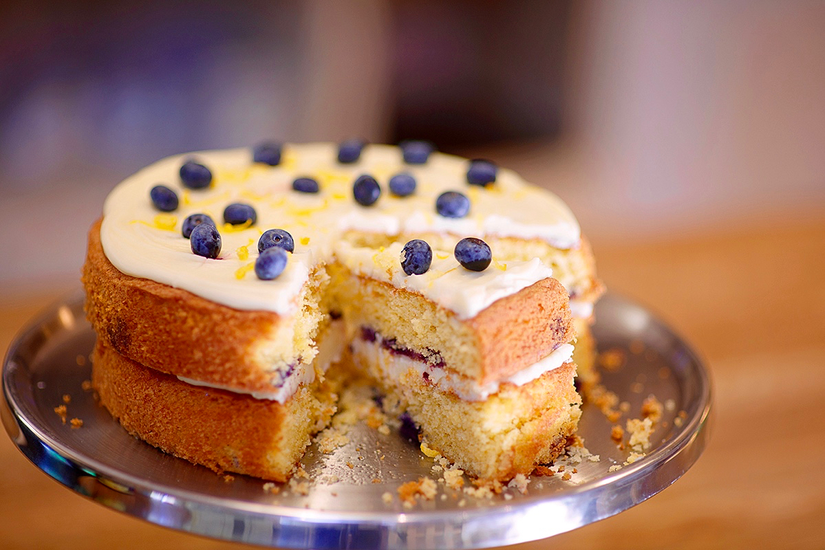 Homemade cake at the Olive Tree Cafe