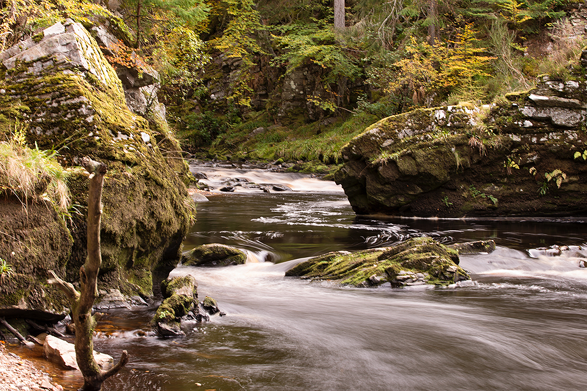 The River Findhorn from the river path near Logie Steading
