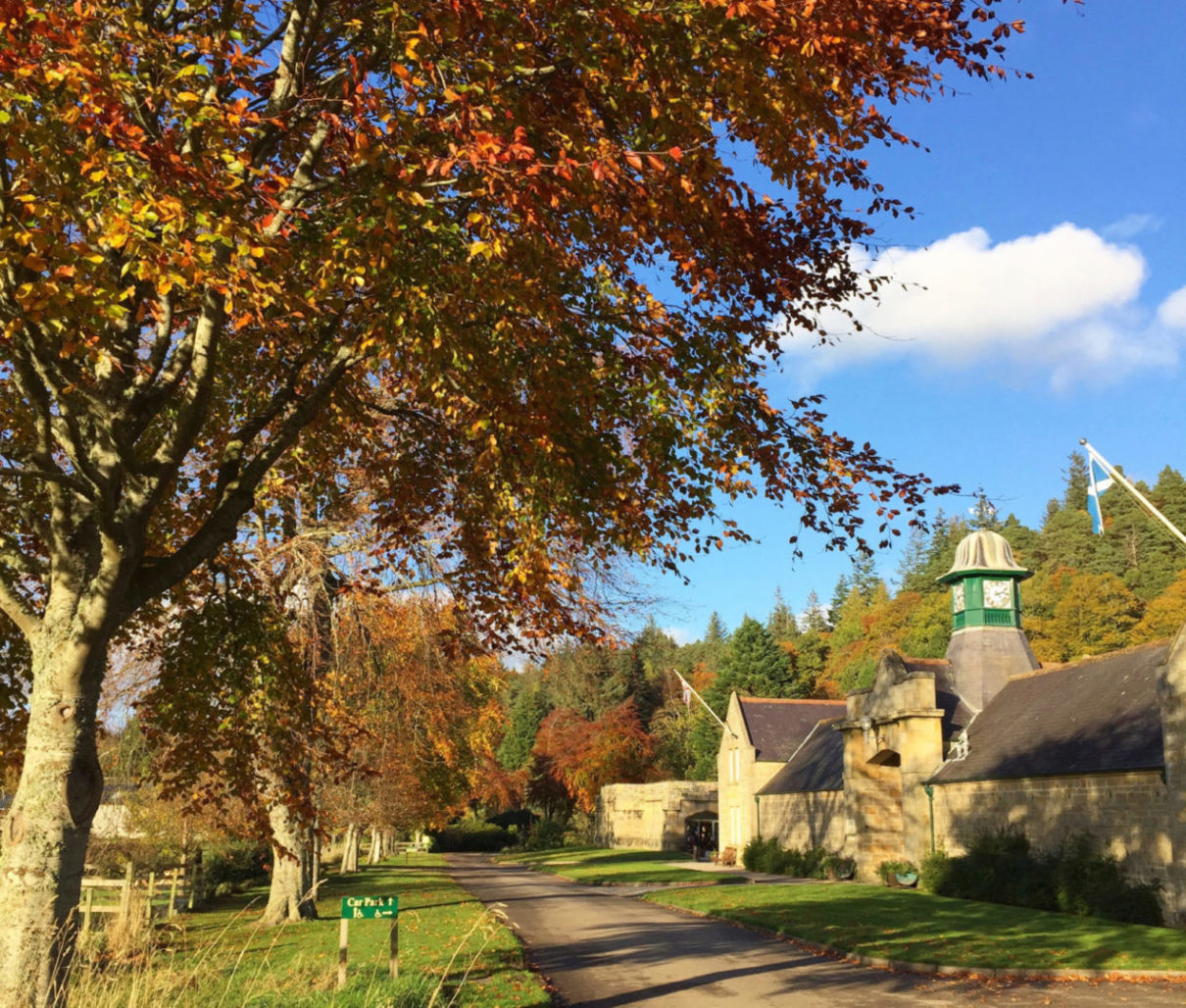 Logie Steading Visitor Centre near Forres in Scotland