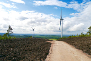 Logie Windfarm at Hill of Glaschyle,
