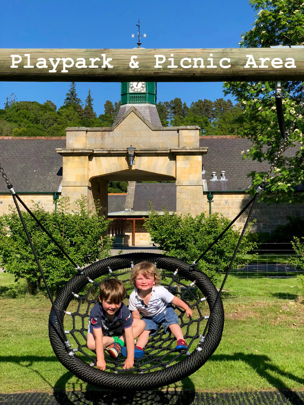 Playpark and picnic area at Logie Steading