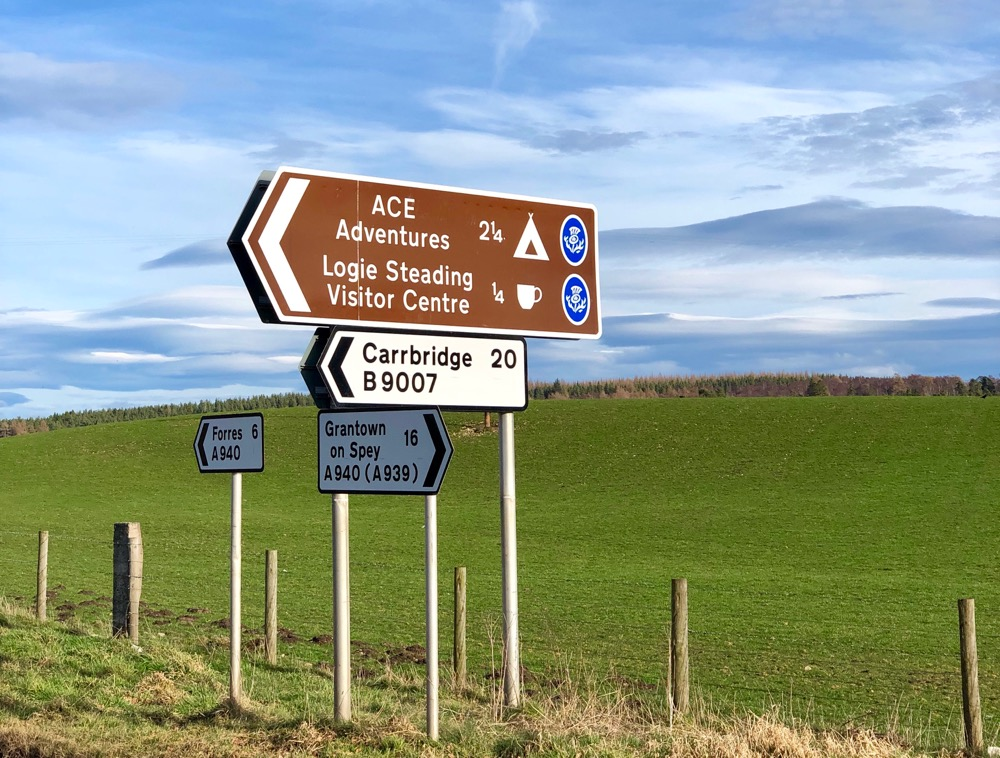 Directions to Logie Steading