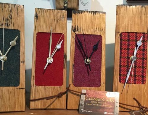 whisky stave clocks at Hellygog