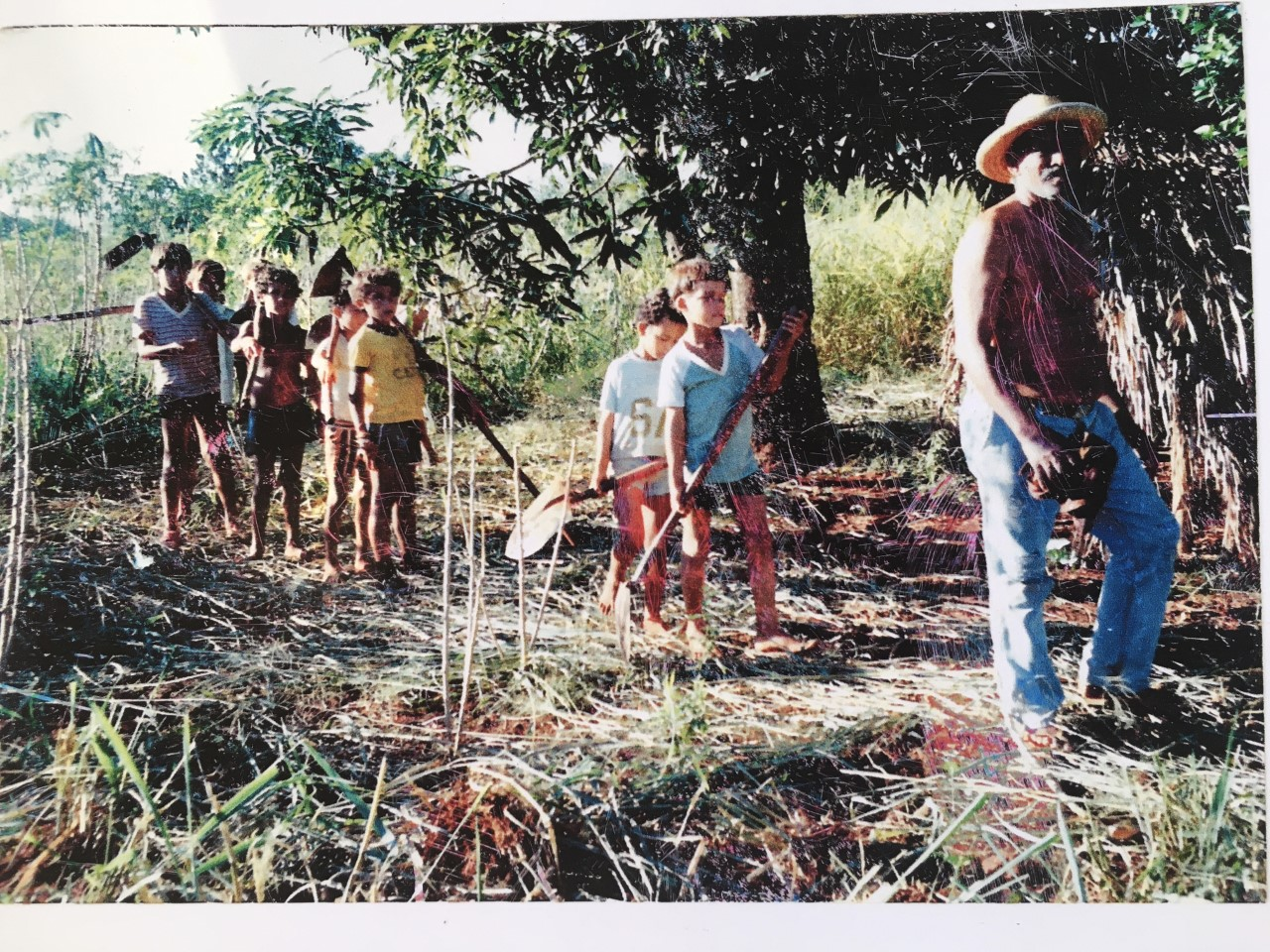 Weller at his Grandfather's Coffee Plantation in Brazil for Storytelling Week