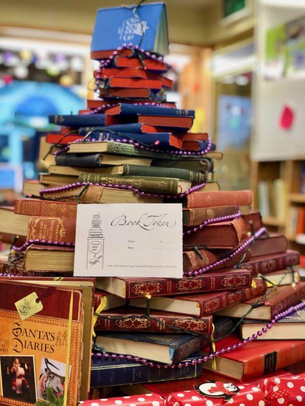 christmas book tree token