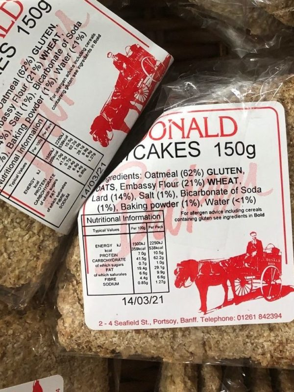 j donald oatcakes