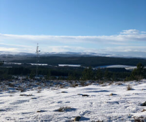 LogieNet mast in snow