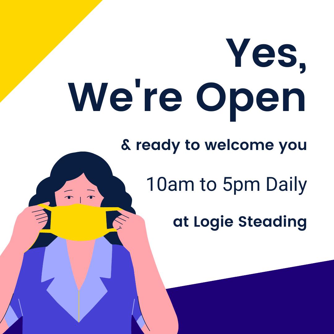 Logie Steading is Open