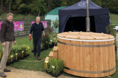 Hommel & Co fired up their wood-fired hot tub made from locally-grown larch milled at Logie TImber