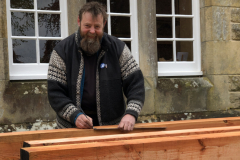 Alan Mackintosh of Logical Buildings created an entire frame for a building to be used at Logie Steading Farm & Garden Shop over the course of the weekend (in wood from Logie TImber of course)