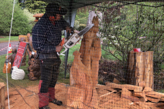 Chainsaw carving demonstration throughout the weekend