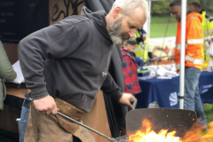 Michael Job of Black Ox demonstrating traditional blacksmithing techniques