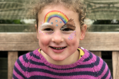 Face painting and cake = heaven!