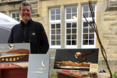 John of Spindrift of Tomintoul with his 'Off the Wall' handmade wooden wall art