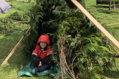 Den-building with Stramash Outdoor Nurseries was a hit with the young (and even the old)