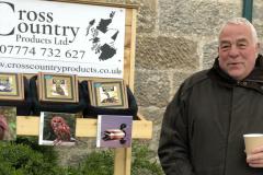 Gerry Cross with his fantastic handmade wooden bird calls