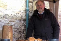 Tony Nicol with some of his wonderful handturned wooden bowls