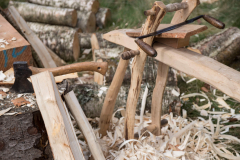 woodworking demos at every turn at Logie Timber Festival