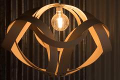 Yellowbroom's beautiful handmade lighting in The Boardroom
