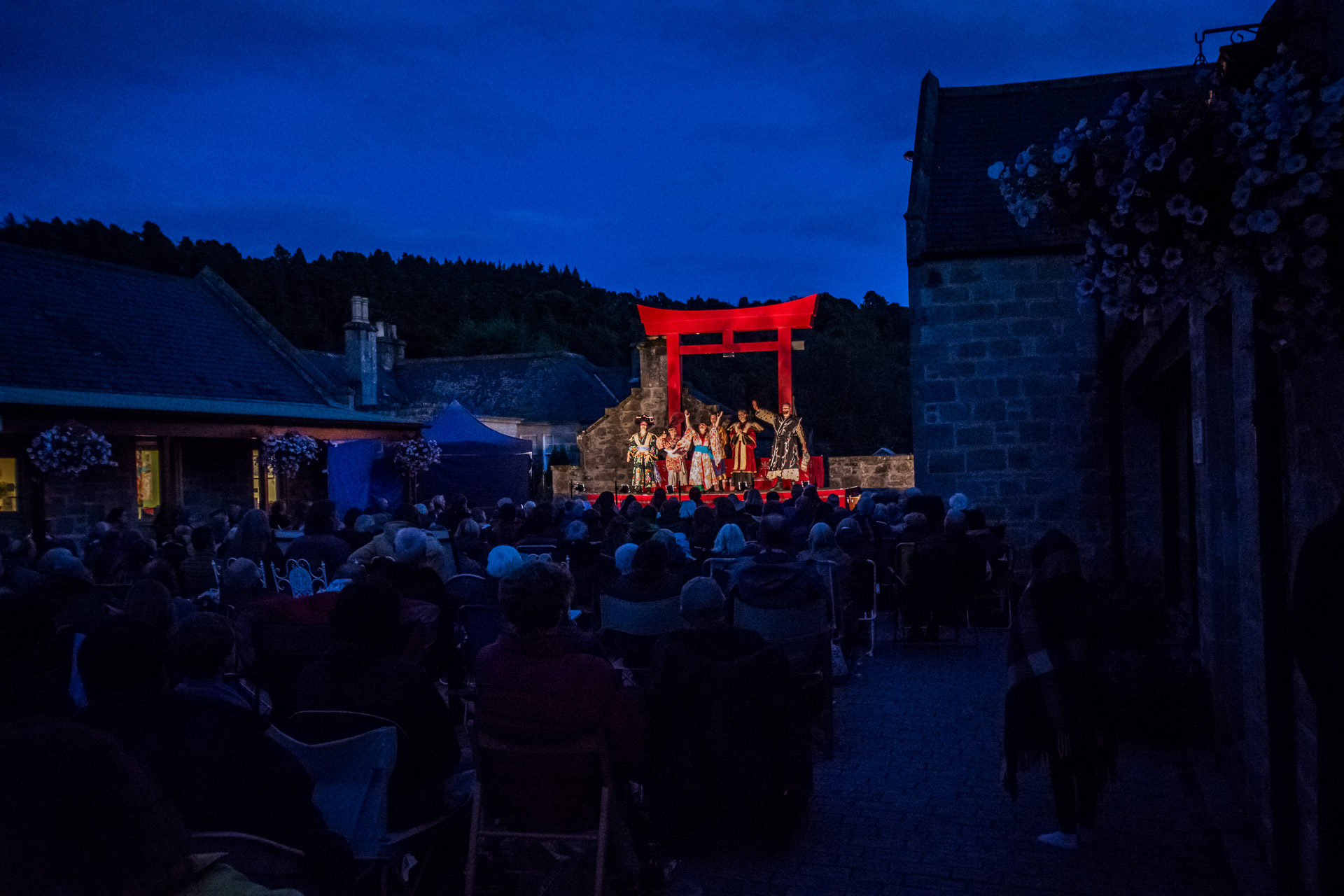 Outdoor Theatre at Logie Steading by Henley Spiers