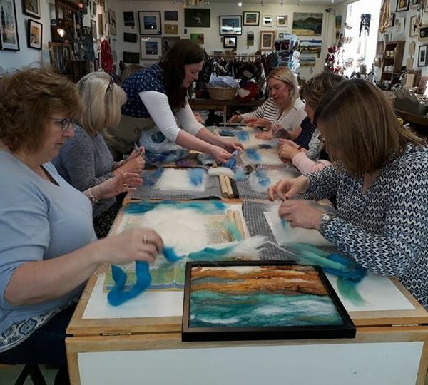 wet felting courses at hellygog logie steading