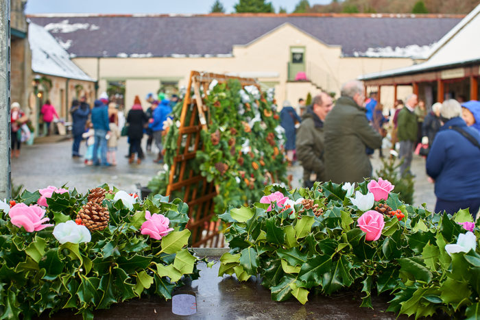 Christmas Wreaths from Greens Nurseries at Logie Steading Christmas Market