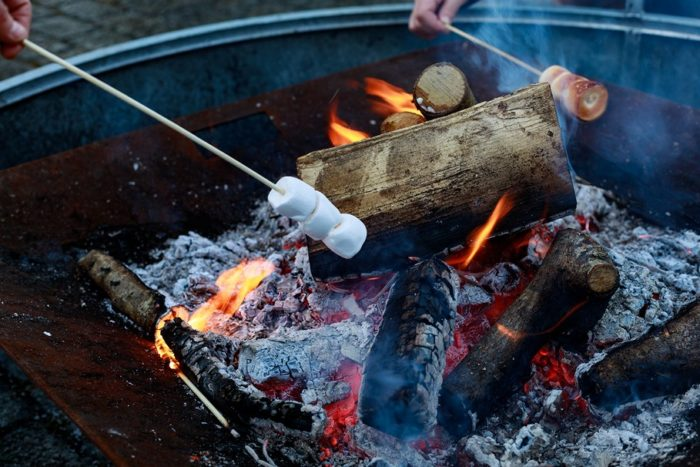 Toasting Marshmallows with Logie Primary School at Logie Steading Christmas Market