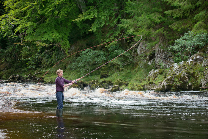 Fishing at Logie on the River Findhorn