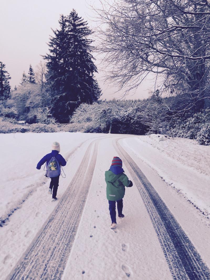 snowy school run