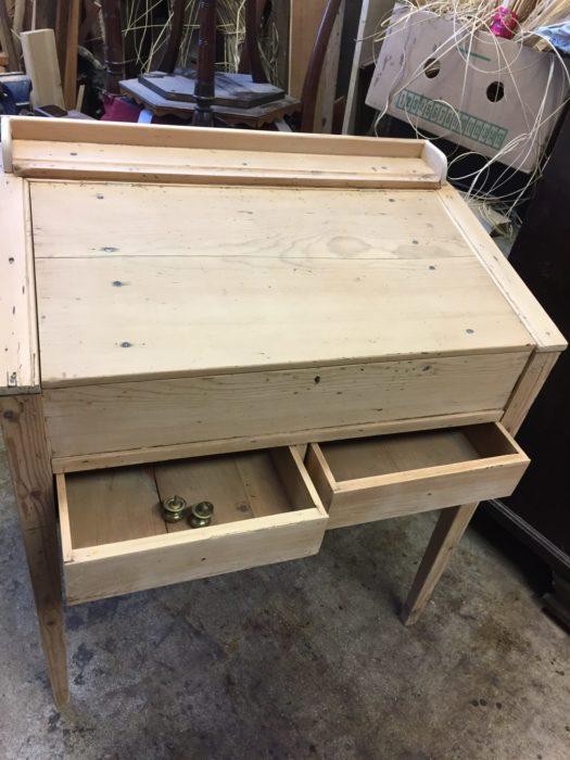restoration of an antique desk