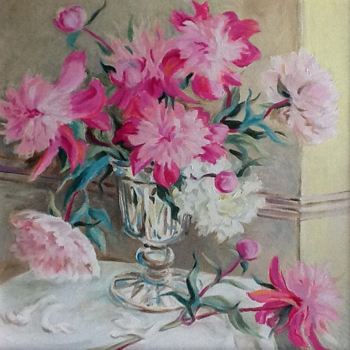 Chloe Furze peonies - Square Room Exhibition