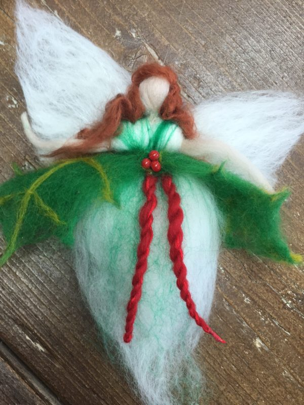 felt christmas fairy making at Hellygog