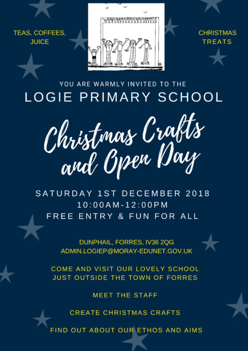 Logie Primary School Christmas crafts and open day