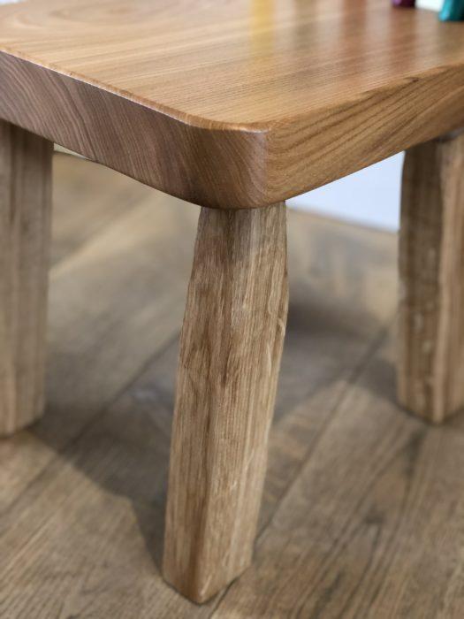Aaron Sterritt child's chair with Logie Oak legs