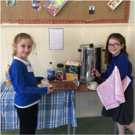 Logie Primary School children serving at Cup of Joy Community Cafe