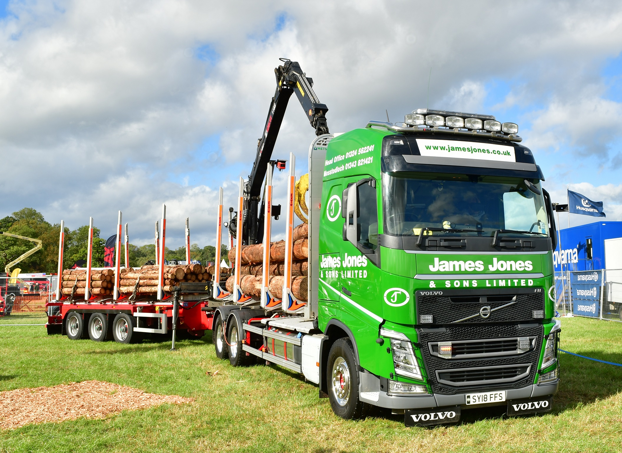 James Jones HiVision lorry with VR is coming to Logie Timber Festival 2019