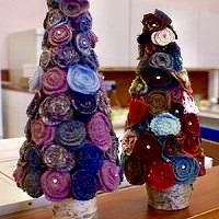 craft a Christmas Tree workshop at Hellygog Logie Steading