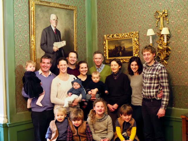 Descendants and portrait of Sir Alexander Grant at Logie December 2018