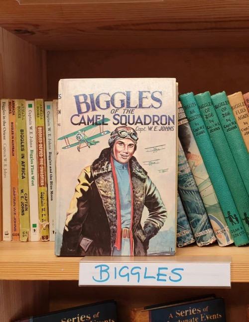 Biggles at Logie Bookshop