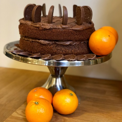 chocolate orange cake at the olive tree cafe logie steading