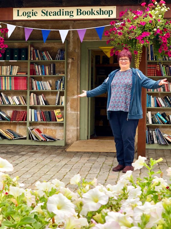 Ruth welcomes you to Logie Steading Bookshop