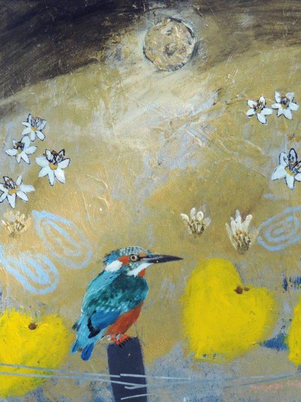 Ingebjorg Smith Waterlily Kingfisher 36x30cm